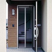 玄関ドア網戸