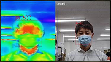 発熱者検知カメラは誤差±0.5℃の高精度検知自動アラートで一定基準を超えた対象者を特定可能