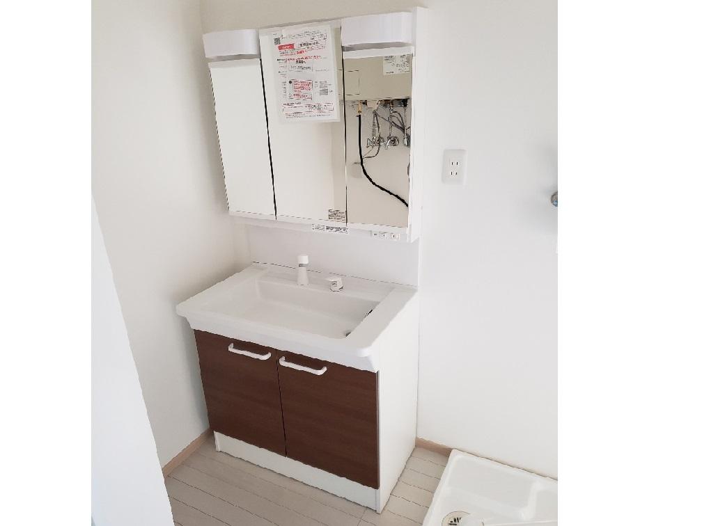 洗面台施工例